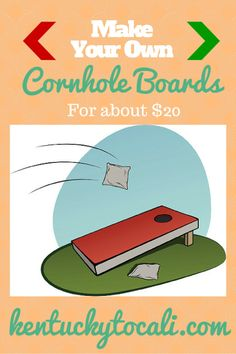 The weather is cooling down, and that means it's time to get outside with some fun games.  Build your own cornhole boards for cheap!