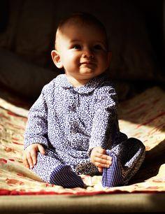 Petit Bateau blue patterned sleepsuit