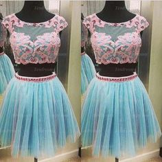 Prom Dress, Blue Dress, Two Piece Dress, Two Piece Prom Dress, Tulle Dress, Short Dress, Cheap Prom Dress, Short Prom Dress, Blue Prom Dress, Cheap Dress, Short Sleeve Dress, Cap Sleeve Prom Dress, Cap Sleeve Dress, Dress Prom, Prom Dress Cheap, Junior Dress, Dress Blue, Prom Dress Short, Short Blue Dress, Short Tulle Dress