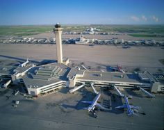 Denver Airport. Supposedly holds the largest secret underground base in the U.S. Largest airport in North America.