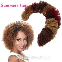 New Arrival Synthetic Braiding Hair Weaving Jerry Curly Hair Wave 2pcs/Lot 100gram Cheap Brazilian Curly Hair 8""