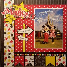 The Magic of Disney scrapbook layout