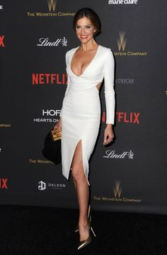 Tricia Helfer at The Golden Globes 2016 After Party