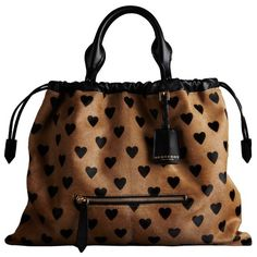 Burberry The Big Crush in Heart Print ($2,195) ❤ liked on Polyvore