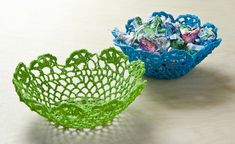 How to Make Bowls From $1 Doilies - diycandy.com