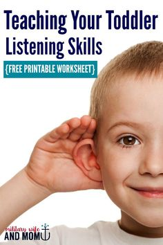 Awesome ways to improve toddler listening! Free printable worksheet at the end of the post | toddler listening skills | teach toddlers to listen | toddler won't listen via @lauren9098