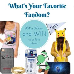 We want to know what you like (and then we'll give it to you for FREE!)  1. Follow us 2. Check out our board Favorite Fandoms https://www.pinterest.com/miniintheboxcom/favorite-fandoms/ 3. Vote for your favorite item by commenting and repinning it.  We'll choose 5 random winners to win the item they voted for!