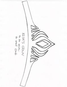 Elsa's crown template