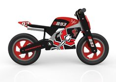 Looking for a world champion balance bike that is going to excite your little one? Take a look at this Marquez Superbike by Kiddimoto and start your bike adventures here at Knock On Wood Toys. Marc Marquez, Bike Brands, Balance Bike, Helmet Design, Valentino Rossi, Super Bikes, Bike Design, Tricycle, Toy Store