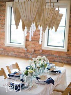 love the umbrellas {The Balcony on Dock} #weddings