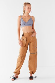 I.AM.GIA Harper Zip Cargo Pant   Urban Outfitters