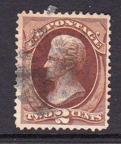 US Classic Scot t#157 1873 2c Jackson, brown - used/light cancel