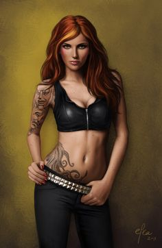 Hot hot hot! Redhead by ~effic on deviantART