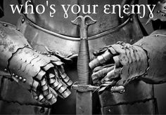 Ephesians 6:12 We wrestle not against flesh and blood, but against principalities, against powers, against the rulers of the darkness of this world, against spiritual wickedness in high places.http://thedanceoflifewithjenna.blogspot.com/2012/10/wrestle-enemy.html