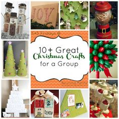 pinterest christmas craft ideas | Fridays} 10 Great Group Christmas Crafts