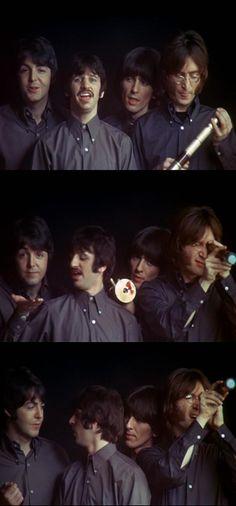 Paul McCartney, Richard Starkey, George Harrison, and John Lennon (The Beatles- All Together Now)