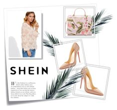 """""""shein"""" by dzengizz ❤ liked on Polyvore featuring Post-It, Ted Baker and Christian Louboutin"""