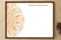 Round Flourish Personalized Stationery by Whisker Graphics at minted.com