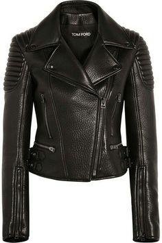 €4950 TOM FORD Textured-leather biker jacket