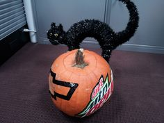 The back of No. 88 rear-tire carrier Matt Ver Meer's pumpkin. Ver Meer and No. 88 front-tire carrier Kevin Harris decided to join in the fun by carving their own Hendrick Motorsports-themed pumpkins to help remind fans to do the same.