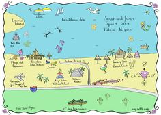 Map of Tulum - making one for Playa Del Carmen to put in the Welcome Bags