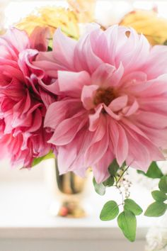 Pink dahlias are perfect for brightening up any space.