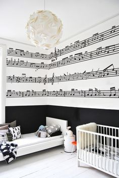 Ideas Music Room Inspiration Awesome For 2019 Music Room Art, Music Bedroom, Music Rooms, Wall Stickers Murals, Wall Murals, Wall Decal, Bedroom Themes, Room Decor Bedroom, Music Theme Birthday