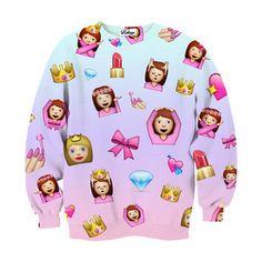 Princess Emojis Crew-neck Sweatshirt