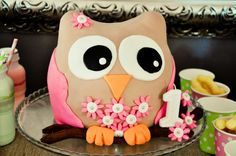Kayla's first birthday cake. oh and how i loved making this owl. First Birthday Cakes, Cake Creations, First Birthdays, Owl, Baking, My Love, Desserts, How To Make, Tailgate Desserts
