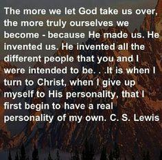 Let God take us over!