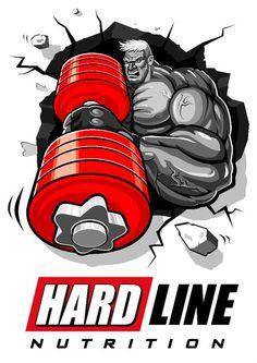 Hardline for Hard Bodies www.hardlinenutri… – Graffiti World Robot Design, Gym Design, Boxe Fight, Football Player Drawing, Hulk Artwork, Gorilla Tattoo, Gym Workouts For Men, Gym Logo, Spaceship Art