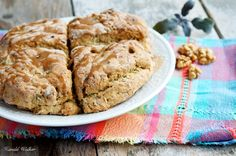 Vegan Wholewheat Walnut Sage Scones with Maple Glaze   recipe via Vegalicious