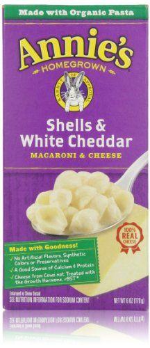 Annie's Homegrown, Shells & White Cheddar, 6 Oz - http://goodvibeorganics.com/annies-homegrown-shells-white-cheddar-6-oz/