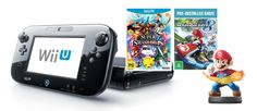 Nintendo Wii U Console + Mario Kart 8 + Super Smash Bros + Mario amiibo Figurine - EB Games New Zealand