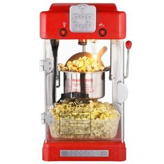 The Great Northern Popcorn Machine Pop Pup Retro Style Popcorn Popper features a revolutionary removable serving tray. Once the corn has finished popping, simply remove the tray and enjoy fresh theater popcorn in the convenience of your home. Kettle Popcorn, Popcorn Cart, Best Popcorn, Pop Popcorn, Popcorn Maker, Small Kitchen Appliances, Cool Kitchens, Kitchen Gadgets, Top Retro