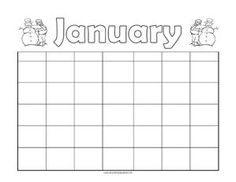 Printable Monthly Calendar Free Template  Teaching Squared