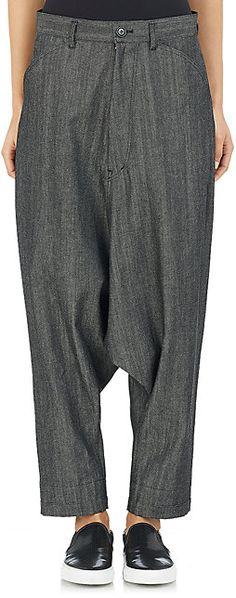 Yohji Yamamoto Drop-Rise Jeans - Straight - Barneys.com