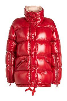 c052c09d0d8d Doudoune rouge · Moncler, Veste Matelassée, Vestes D hiver, Haute Couture,  Fermeture Éclair,