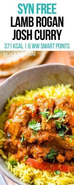 Syn Free Lamb Rogan Josh Curry Pinch Of Nom Slimming World Recipes 371 kcal Syn Free 6 Weight Watchers Smart Points Slimming World Lamb Curry, Slimming World Fakeaway, Slimming World Dinners, Slimming World Recipes Syn Free, Slimming World Diet, Slimming Eats, Slimming Worls, Slimming World Desserts, Indian Food Recipes