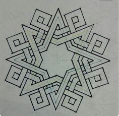 b… – Tattoo Pattern Geometric Designs, Geometric Shapes, Geometric Patterns, Celtic Patterns, Celtic Designs, Islamic Art Pattern, Pattern Art, Motifs Islamiques, Graph Paper Art