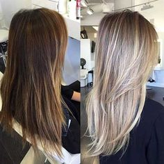 From brown to blonde: it works with THESE methods and tips! - All For Hair Cutes Ash Blonde Balayage, Dyed Blonde Hair, Brown Blonde Hair, Bobbed Hairstyles With Fringe, Top Hairstyles, Concealer, Medium Hair Styles, Long Hair Styles, Fashion Models