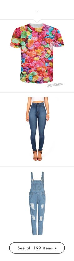 """""""..."""" by trillest-queen ❤ liked on Polyvore featuring tops, t-shirts, jeans, pants, bottoms, denim, skinny jeans, blue jeans, pink high waisted jeans and blue skinny jeans"""