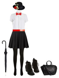 """""""Mary Poppins Halloween Costume"""" by goldiammer ❤ liked on Polyvore featuring Yves Saint Laurent, Sugarhill Boutique, ASOS, Pier 1 Imports, Alexander McQueen, H&M, Halloween, marypoppins and Costume"""