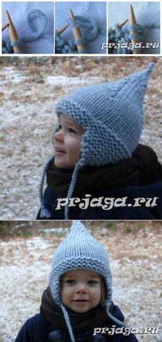 Шапка детская зимняя спицами