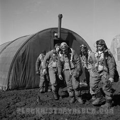 Members of the 332nd Fighter Group attending a briefing in Ramitelli, Italy, March, 1945.
