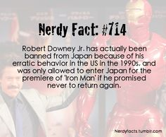 Nerdy Fact #714. This is why you don't do drugs, boys and girls. You get banned from nice places.