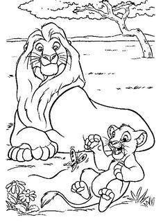 simba ausmalbilder könig der löwen malvorlagen | könig der