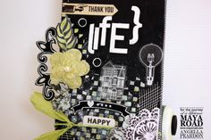 Hi Roadies Angella here ! with my take on our chalkboard inspration!, as you know the Design team where assigned to altered something with Chalkboard paint and Maya Road goodness . I decided to go with the skateboard as life. Scrapbook Cards, Scrapbooking, Chalkboard Paint, Chipboard, Greeting Cards Handmade, Maya, Skateboard, Flowers, Design