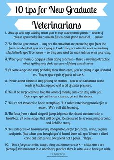 Tips for New Vet Grads