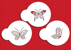 Small Butterfly Tops 2 inch Stencil Set for by LilyBearLane